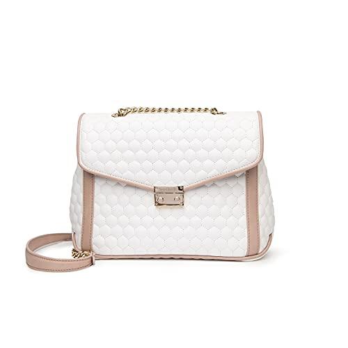 Nero giardini - bolso acolchado mujer - bianco