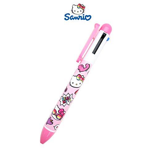 Sanrio Hello Kitty 4 Color Multi-Color Ballpoint Pen : Summer Dinosaur Edition