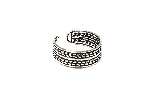 925 ajustable de plata de ley anillo del dedo del pie -...