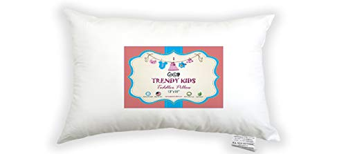 Trendy Kids 13x18 Toddler Pillow 100% Cotton Baby / Toddler / Travel Pillow 300TC Satin - No Extra Pillowcase / Sham Needed - Machine Washable and Hypoallergenic, Perfect for Kids, Satin