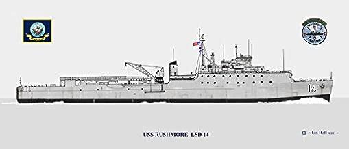 USS Rushmore LSD-14 Ship Print