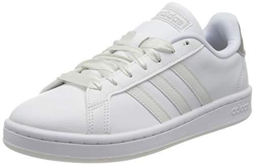 adidas Grand Court, Scarpe da Tennis Donna, Ftwr White/Crystal White/Silver Met, 36 2/3 EU