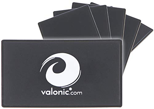valonic RFID wallet shield | ultra slim | 6-pack | RFID blocking guard card | black | fraud protection for credit cards and debit cards