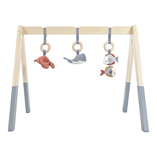 Baby gym con juguetes azul