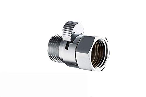 1/2 in Water-Saver Flow Control and Shut OFF Valve, Solid brass, for Hand Shower, Shower Head, and Bidet Sprayer
