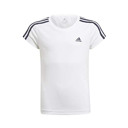 adidas Mädchen Shirt G 3s T, Mehrfarbig (Blanco/Tinley), GN1456, Gr. 122