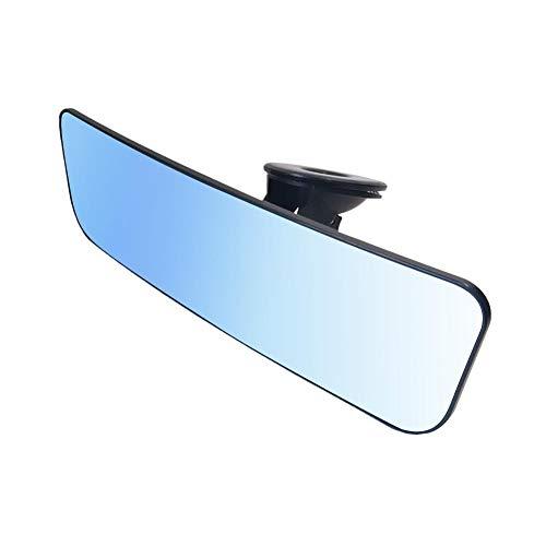 YuQiLin Retrovisor de rotación de 360 Grados Retrovisor Universal Car Truck Interior Anti-Glamare Retrovise Retrovision con Ventosa Azul Espejo Reverso (Color Name : Blue Mirror)
