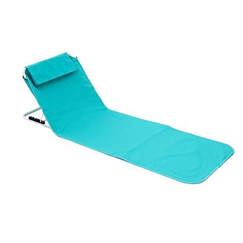 HUOFEIKE Tumbonas de playa con respaldo totalmente ajustable, la alfombra plegable de playa con bolsa de almacenamiento para caminar, picnics playa, camping, senderismo o festivales