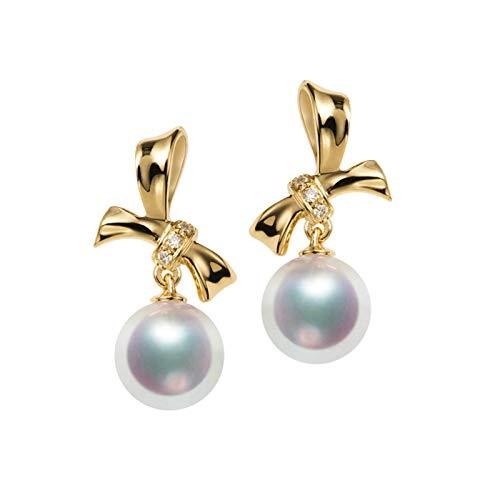 AmDxD oro amarillo 18 quilates (750) round-shape White Pearl