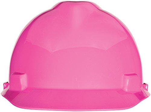 MSA Safety 10155231 V-Gard Slotted Cap, Hot Pink, w/Staz-On Suspension, Standard
