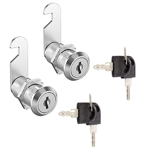 General Cabinet Keyed Cabinet Locks 2 Keyed Alike 3/4 Cylinder Cam Locks 5/8''Mailbox Lock Replacement 16mm for Cabinet Security RV Mailbox Toolbox Replacement Locks 2 Sets 4 Keys