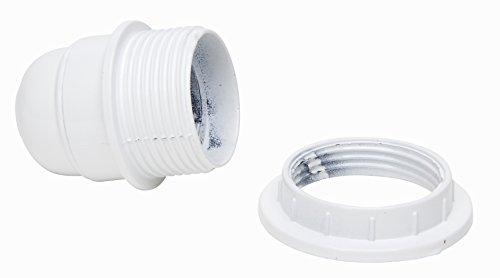 Kopp Isolierstoff-Fassung E27 mit Schirmträgerring, weiß, Bakelit, 212413045