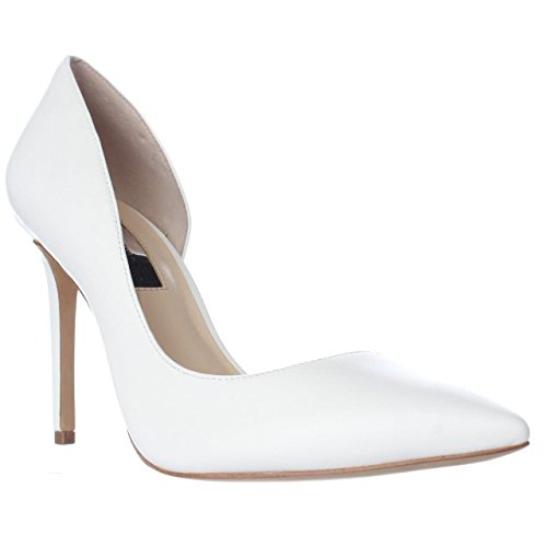 Price comparison product image INC International Concepts Womens Kenjay Leather Pointed,  Bright White,  Size 8.5