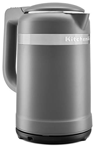 KitchenAid KEK1565DG Water Electric Kettles, 1.5 L, Matte Charcoal Grey (Renewed)