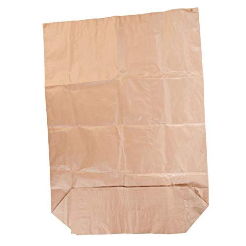 25 Kreuzboden-Papiersack 120 l, Kraftpapiersack für Biotonne, Müllbeutel aus Papier, Müllsack, Papiermüllsack, Abfallsack, Bio-Müllsack