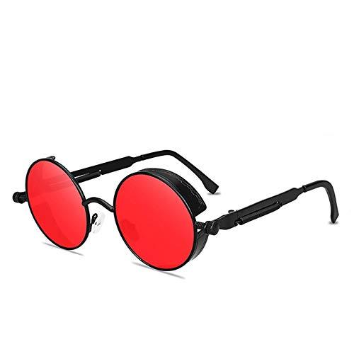 Gafas de Sol Sunglasses Gafas De Sol Redondas Steampunk para Hombres Y Mujeres, Gafas De Moda De Diseñador, Montura De Metal Retro, Gafas De Sol Vintage U