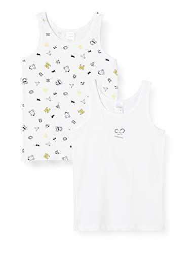 Schiesser Mädchen Unterhemd, Multipack Yellow Mouse 2pack Hemd 0/0, 116 (2er Pack)