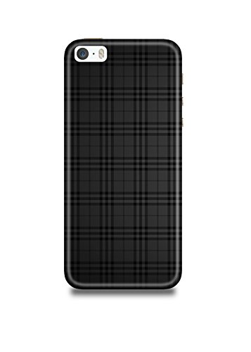 Apple iPhone 5/5s Cover,Apple iPhone 5/5s Case,Apple iPhone 5/5s Back Cover,Black Checks iPhone5/5s Mobile Cover by The Shopmetro-472