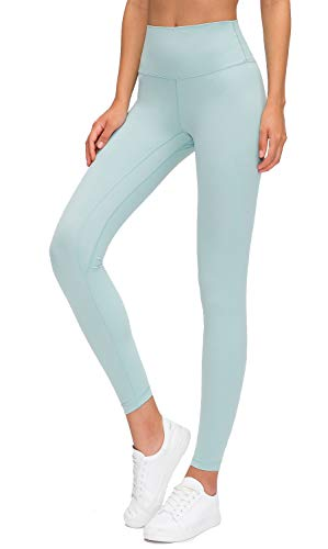 Lavento Women's Ankle Leggings High Waist Tummy Control Yoga Pants -  Green -  Small