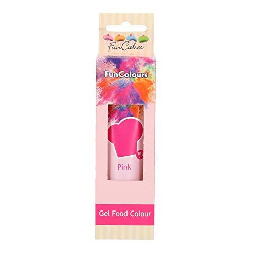 FunCakes hochwertige essbare FunColours - Lebensmittelfarbe - in Gel / Paste - verschiedene Farben - für einen einzigartigen Look (Pink, 1er)