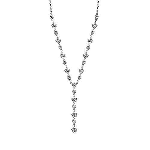 Q&N Frauen schließen Halsketten-Legierung Glasdiamant für Hochzeit Braut Brautjungfern Bankett-Party-Feier Diskothek Bar