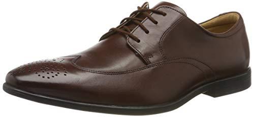 Clarks Herren Bampton Wing Brogues, Braun (Mahogany Leather Mahogany Leather), 43 EU