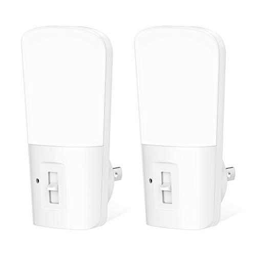ロハス 足元灯 明暗センサー LEDセンサーライト コンセント式 調光可能 常夜灯 玄関階段 廊下 子供部屋 寝室用 昼光色 2個入