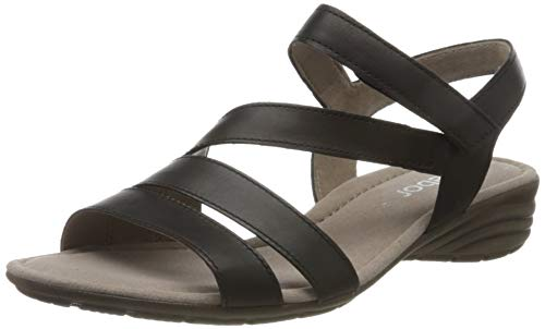 Gabor Shoes Casual, Sandali con Cinturino alla Caviglia Donna, Nero Black 27, 42 EU