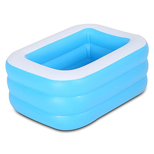 LANGTAO Piscina Piscina Inflable, Tina de baño para Nadar en el Agua, Centro Familiar al Aire Libre Ambientalmente PVC, Juguetes para niños y Adultos Verano,117 * 84 * 34cm