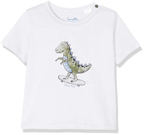Sanetta Sanetta Baby-Jungen T-Shirt, Weiß (White 10), 56 (Herstellergröße: 056)