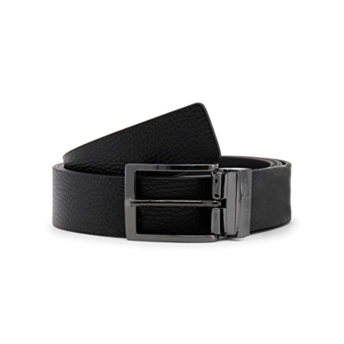 Armani Jeans Reversible Leather Belt One Size BLACK