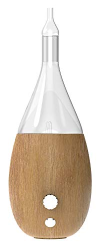 Raindrop Nebulizing Diffuser - Waterless diffuser For Essential Oils Aromatherapy - Wood Base, Glass Top - Fills Big Rooms In Minutes With Organic Aromas - Two Scents by VINEVIDA (Light Wood)