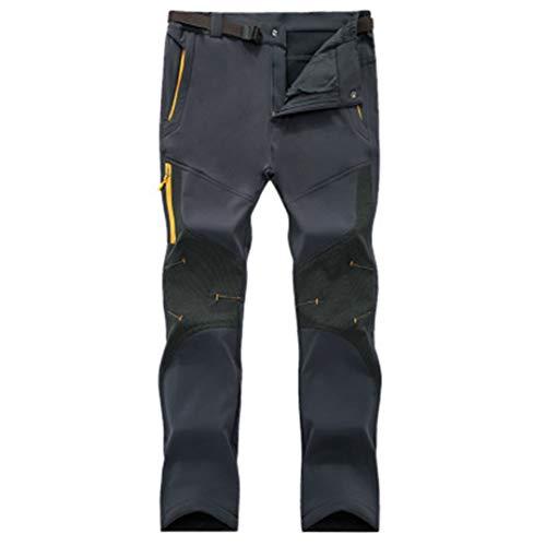 Drying Den Hiver Hommes Softshell Pantalon en Molleton Thermique Imperméable Coupe-Vent en Plein Air Pantalon De Sport en Plein Air Randonnée Camping Hommes Pantalon Gray Asian Size 5XL