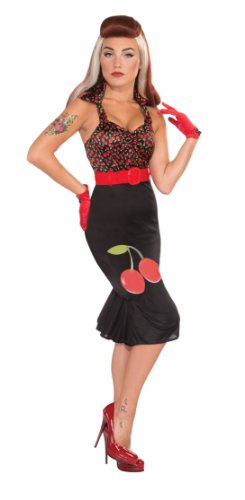 Zwarte jurk pin-up girl