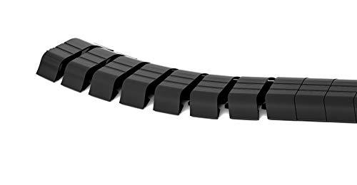 Organizador de cables plano Cuba suelo, longitud: 1 m, color negro, fabricado...