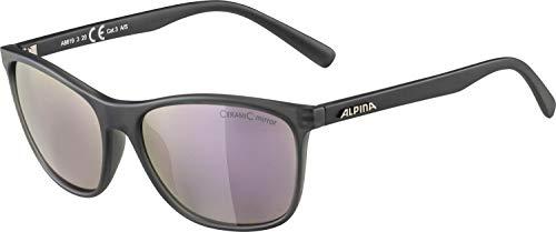 Alpina JAIDA Unisex zonnebril voor volwassenen, grijs transparant mat, one size