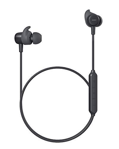AUKEYCuffie Bluetooth 5 Auricolari Senza Fili con IPX5 Impermeabili, CVC 6.0 Cancellazione Rumore Microfono, 8 Ore di Tempo di Utilizzo, Auricolare Sport per Samsung iPhone Xiaomi Huawei Sony