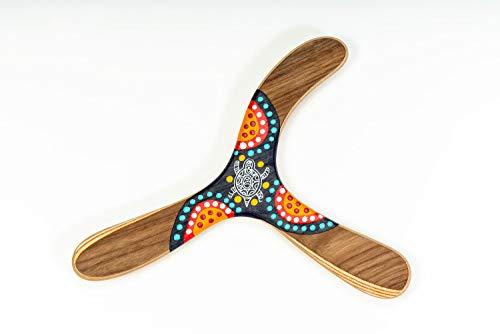 Bumerang Warramba, Handbemaltes Holz