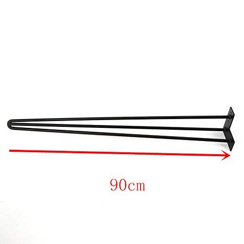 Haarspeld tafelpoten zwart 30/60/90 cm hairpin legs set van 4 met 3 stangen stalen haarspelden poten meubelpoot voor eettafel salontafel koffietafel 90 cm
