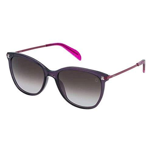TOUS STO994-5509PW Gafas, Transparente/Violeta, 55/18/135 para Mujer
