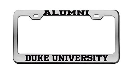 Alumni Duke University Chrome License Plate Frame Tag Black