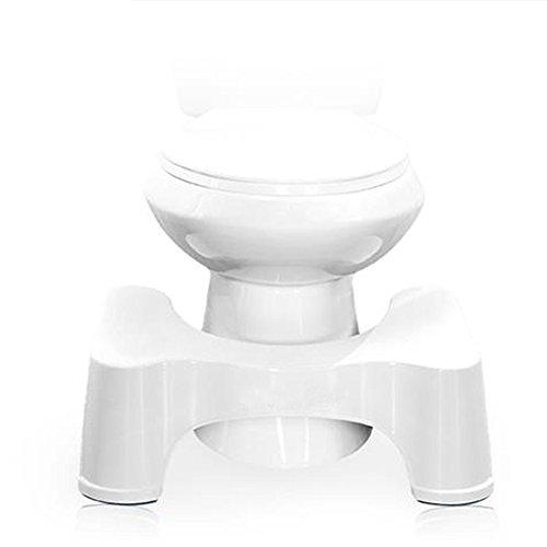 Taburete ergonómico para el baño, color blanco, 21cm