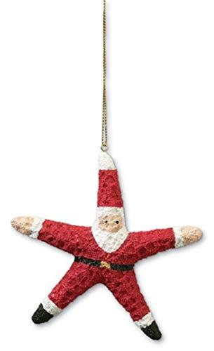 Starfish Santa 4 Inch Hanging Christmas Tree Ornament