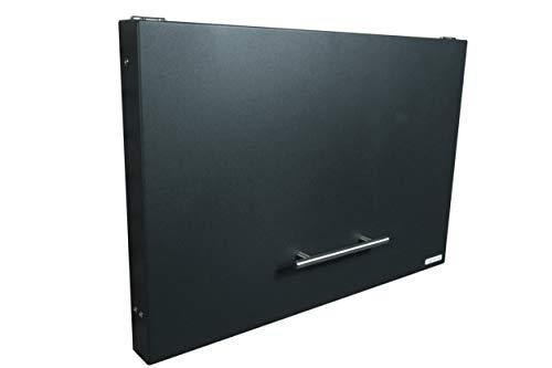 anytime-box - faltbarer, sehr flacher und dezenter Paketkasten anthrazit RAL 7016 - Paketbriefkasten für große Pakete bis 52 x 38 x 36 cm