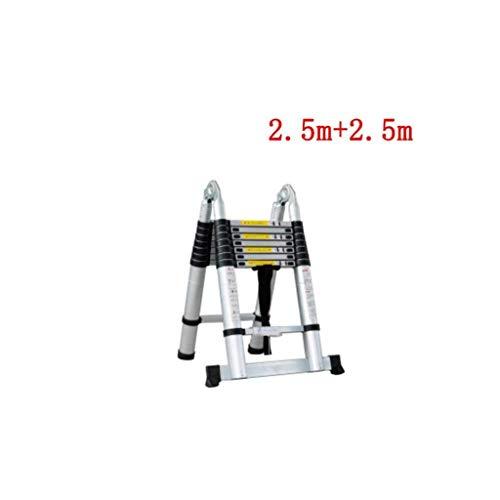DY Telescopische 2.9M Aluminium DIY Opvouwbare Uitschuifbare Enkele Rechte Multi Purpose Ladder