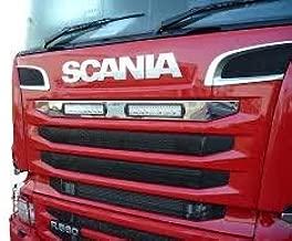 Ornamentos de acero inoxidable para Scania P R de 2010a2016,OEM 1870595 y1870596, acabado pulido, 2 unidades