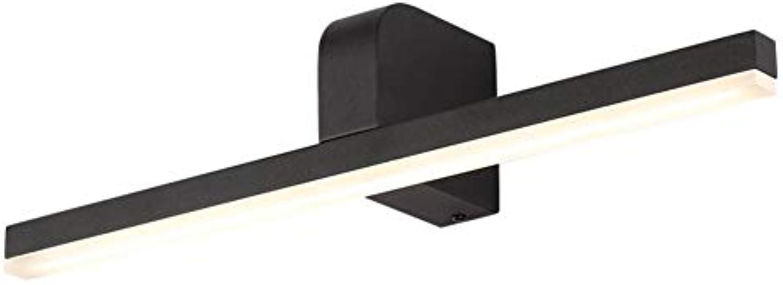 YHSGD Badezimmerspiegel LED Einfache wasserdichte Wandleuchte für die Umkleidekabinenbeleuchtung,schwarz,60cm