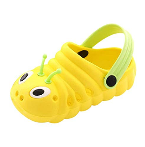 ZYLL Sandales bébé Mignon Caterpillar d'été Chaussons de Haute qualité pour Enfants Chaussons Chaussures Flip,Jaune,29