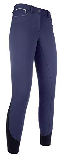 HKM SPORTS EQUIPMENT Softshell Reithose-Style-Silikon-Vollbesatz6900 dunkelblau40 Pantalon Mixte, 6900 Dunkelblau, Taille 40