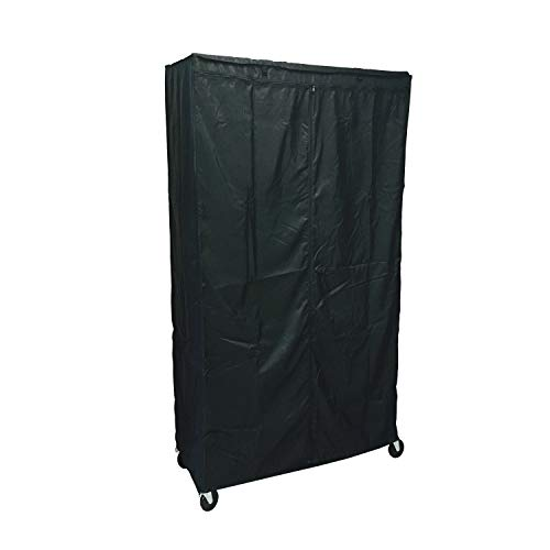 Formosa Covers Storage Shelving Unit Cover, fits Racks 36' Wx18 Dx72 H (Cover Only Black Color)